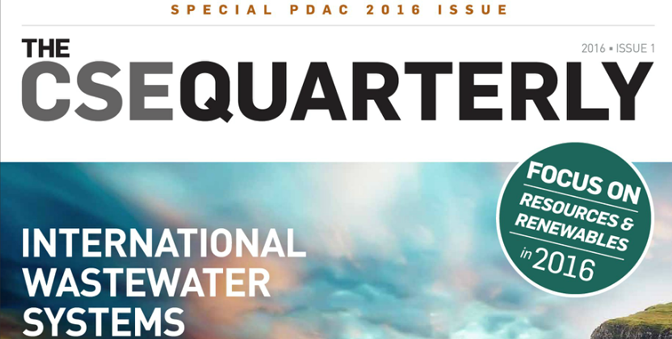 The CSE Quarterly – Special PDAC 2016 Issue