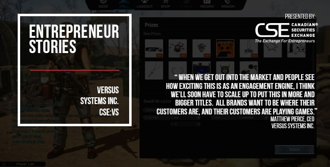 Versus Systems prepares to play matchmaker between major brands, video gamers worldwide