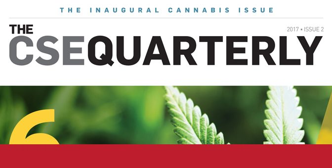 Cannabis-themed Special Edition of the CSE Quarterly now live!