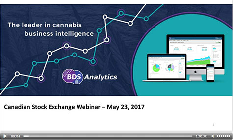 Cannabis industry webinar with Tom Adams - BDS Analytics