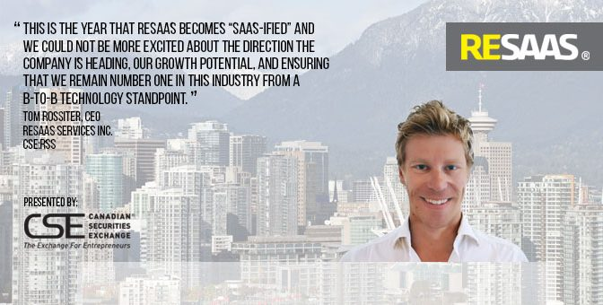Interview with Tom Rossiter, Chief Executive Officer, RESAAS Services Inc.