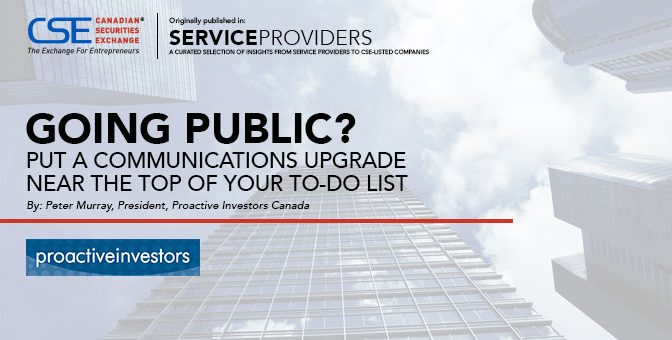 Going Public?  Put a Communications Upgrade Near the Top of Your To-do List