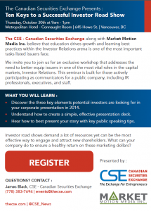 CSE_10_Keys_Successful_Investor_Road_Show