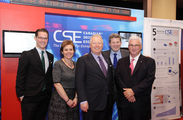 Picture at the CSE booth at PDAC 2016