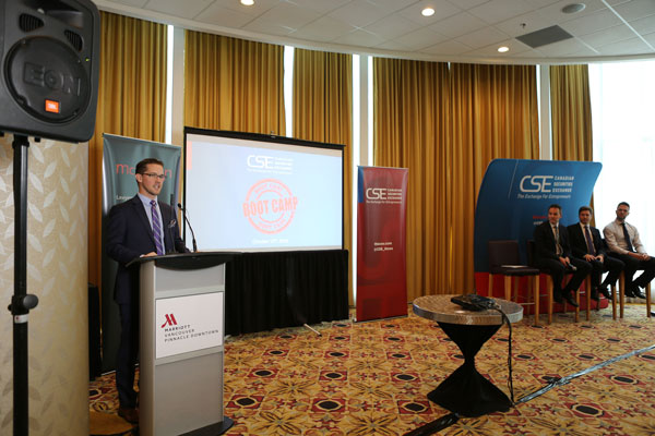 James Black, VP Listings Development, introducing the first edition of the CSE Go Public Boot Camp in Vancouver