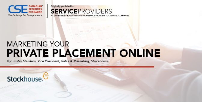 Marketing your Private Placement online