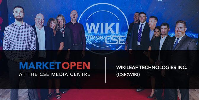 Wikileaf Technologies Opens the Market at the CSE Media Centre