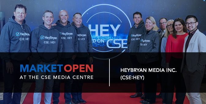 HeyBryan Media Opens the Market at the CSE Media Centre