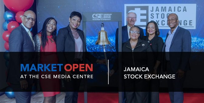 Jamaica Stock Exchange Opens the Market at the CSE Media Centre