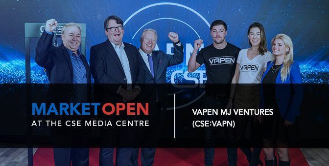Vapen MJ Ventures Opens the Market at the CSE Media Centre