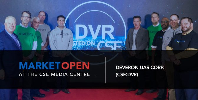 Deveron UAS Corp. Opens the Market at the CSE Media Centre