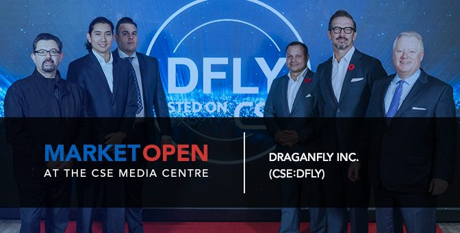 Draganfly Inc. Opens the Market at the CSE Media Centre