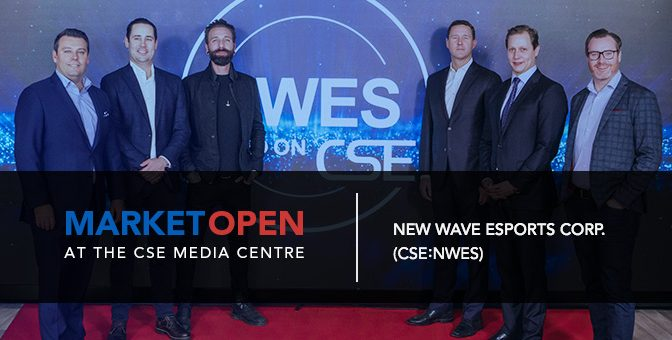 New Wave Esports Corp. Opens the Market at the CSE Media Centre