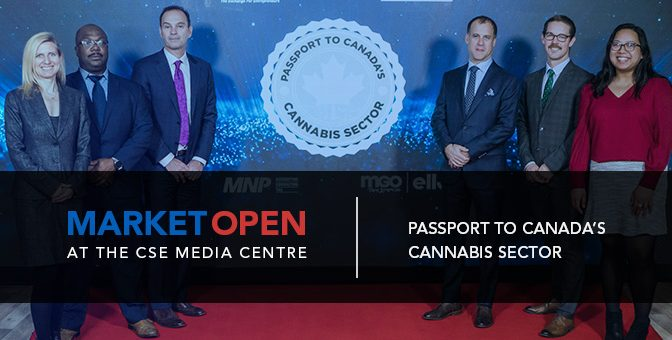 Passport to Canada's Cannabis Sector Opens the Market at the CSE Media Centre