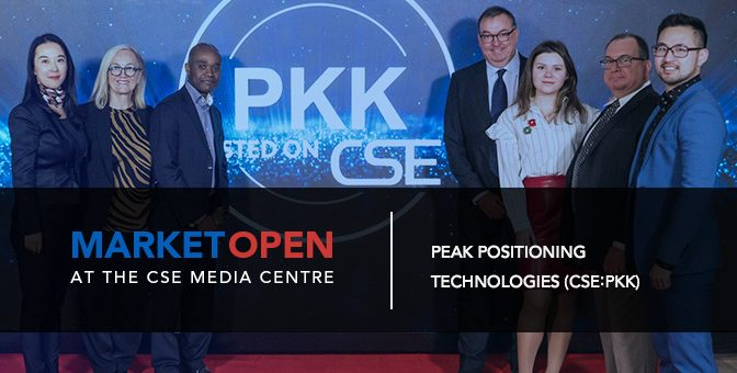 Peak Positioning Technologies Inc. Opens the Market at the CSE Media Centre