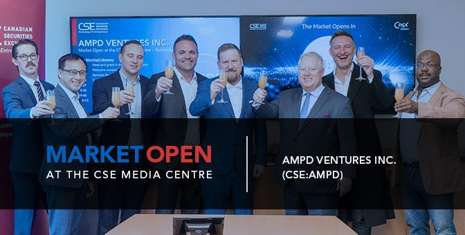 AMPD Ventures Inc. Opens the Market at the CSE Media Centre