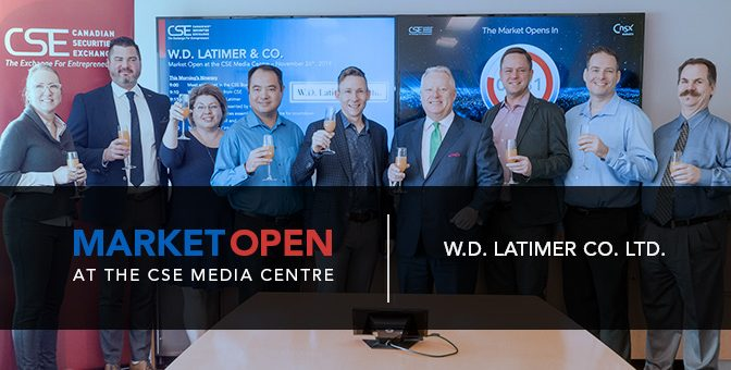 W.D. Latimer Co. Ltd. Opens the Market at the CSE Media Centre