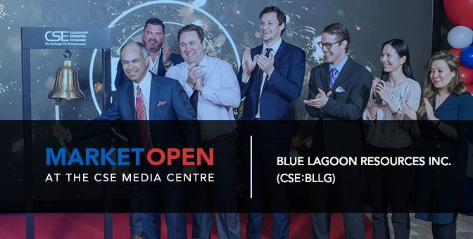 Blue Lagoon Resources Inc. Opens the Market at the CSE Media Centre