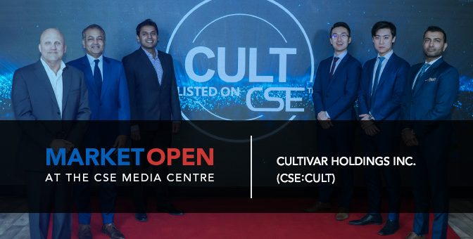 Cultivar Holdings Inc. Opens the Market at the CSE Media Centre