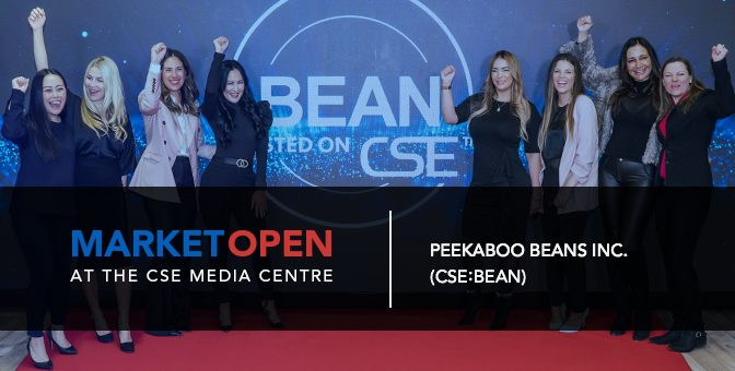 Peekaboo Beans Inc. Opens the Market at the CSE Media Centre