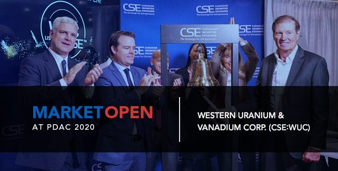 Western Uranium & Vanadium Corp. Opens the Market at PDAC 2020