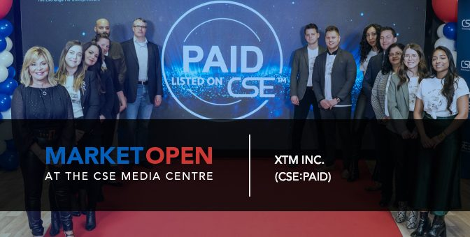 XTM Inc. Opens the Market at the CSE Media Centre