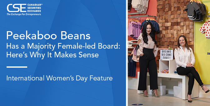 Peekaboo Beans Inc. Has a Majority Female-led Board: Here's Why It Makes Sense