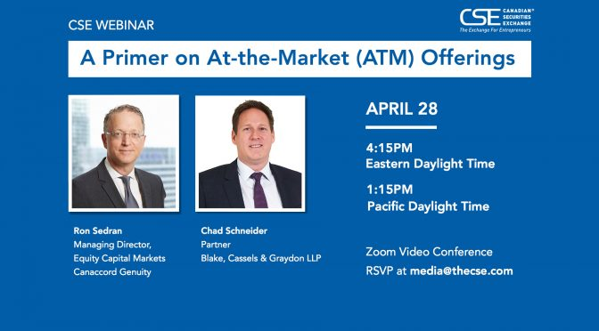 A Primer on At-the-Market (ATM) Offerings | CSE Webinar