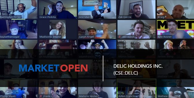 Delic Holdings Inc. Joins the CSE for a Virtual Market Open