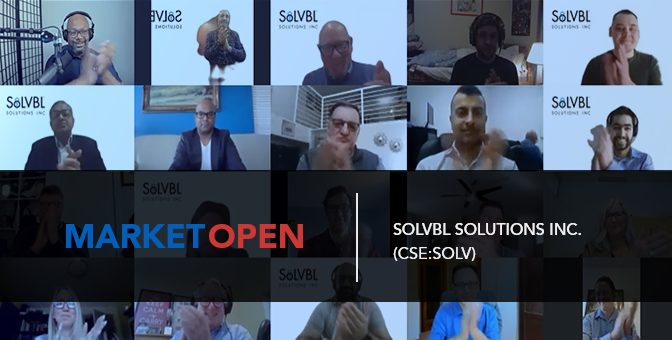 SoLVBL Solutions Inc. Joins the CSE for a Market Open