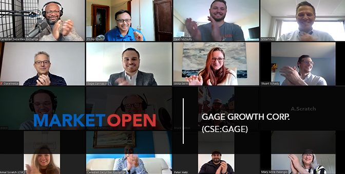 Gage Growth Corp. Joins the CSE for a Virtual Market Open