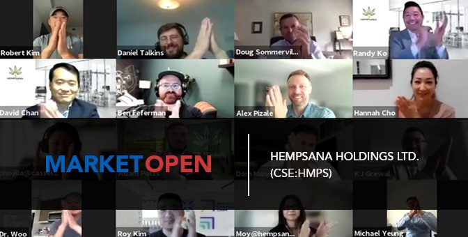 Hempsana Holdings Ltd. (CSE:HMPS) Joins the CSE for a Virtual Market Open
